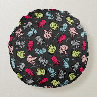 Avengers Simple Line Art Toss Pattern Round Cushion