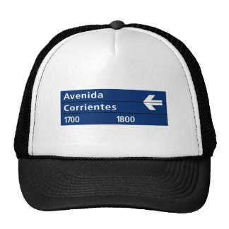 Avenida Corrientes, Buenos Aires Street Sign Trucker Hat