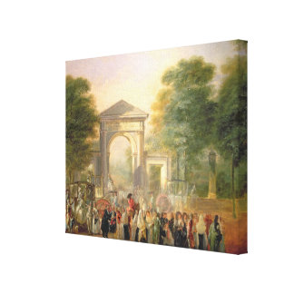 Avenue before the Botanical Gardens in Madrid, 178 Canvas Print