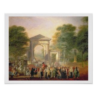 Avenue before the Botanical Gardens in Madrid, 178 Poster