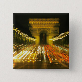 Avenue des Champs-Elysees, Arch of Triumph, 15 Cm Square Badge