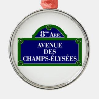 Avenue des Champs-Elysees, Paris Street Sign Christmas Ornament