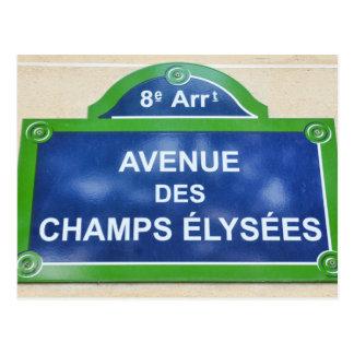 Avenue des Champs-Elysées Postcard