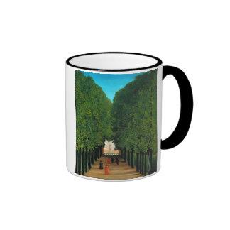 Avenue in the Park at Saint Cloud, Henri Rousseau Ringer Mug