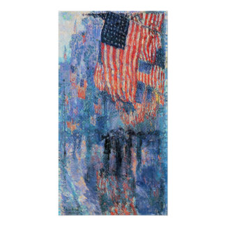Avenue in the Rain, Hassam, Vintage Impressionism Poster