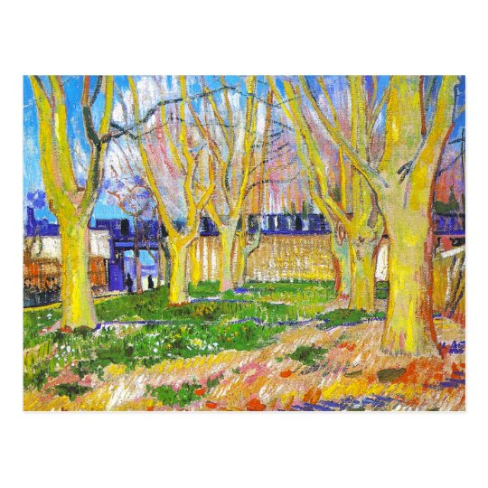Avenue of Plane Trees near Arles Station by