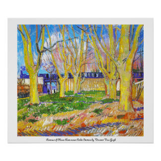 Avenue of Plane Trees near Arles Station by Vincen Poster
