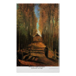 Avenue of Poplars in Autumn by Vincent van Gogh Poster
