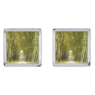 Avenue of Trees Cufflinks Silver Finish Cuff Links