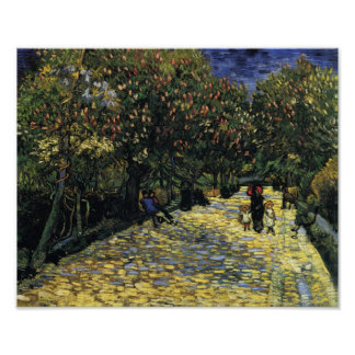 Avenue with Chestnut Trees at Arles, Van Gogh Poster