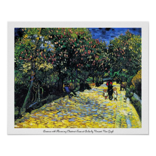Avenue with Flowering Chestnut Trees at Arles Poster