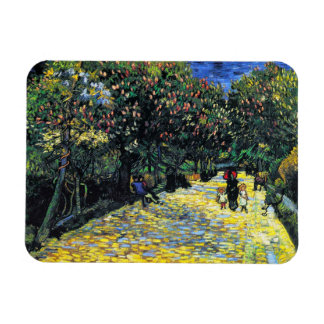 Avenue with Flowering Chestnut Trees at Arles Rectangular Photo Magnet