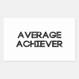 Average Achiever Rectangular Sticker