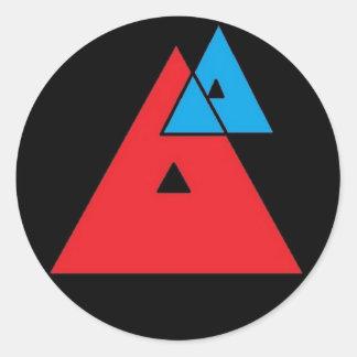 Average Analysis - Triangles Round Sticker