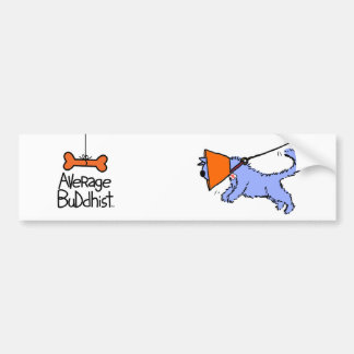 Average Buddhist Bumper Sticker - Buddhi Leaping