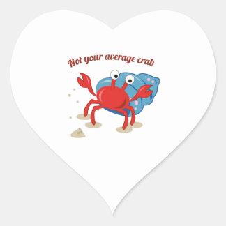 Average Crab Heart Stickers