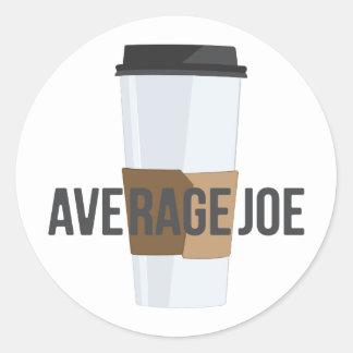 Average Joe Round Sticker