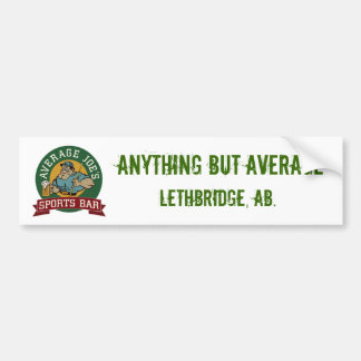 AVERAGE JOE STICKER BUMPER STICKER
