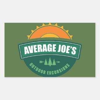 Average Joe's Outdoor Excursions Rectangular Sticker