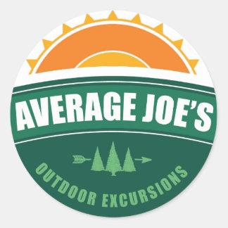 Average Joe's Outdoor Excursions Round Sticker