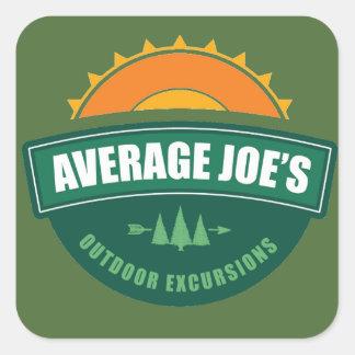 Average Joe's Outdoor Excursions Square Sticker