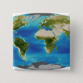 Average plant growth of the Earth 15 Cm Square Badge