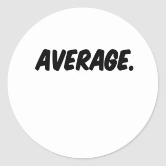 average round sticker