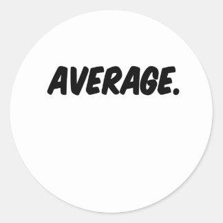 average round sticker
