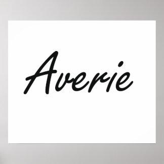 Averie artistic Name Design Poster