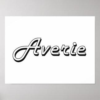 Averie Classic Retro Name Design Poster