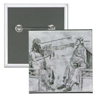 Averroes  in Conversation with Porphyry 15 Cm Square Badge