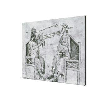 Averroes  in Conversation with Porphyry Gallery Wrapped Canvas