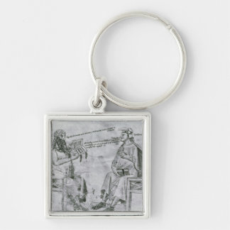 Averroes  in Conversation with Porphyry Key Ring