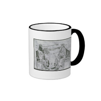 Averroes  in Conversation with Porphyry Ringer Mug