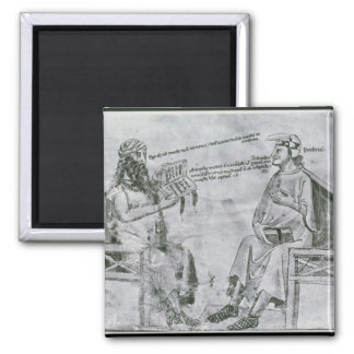 Averroes  in Conversation with Porphyry Square Magnet