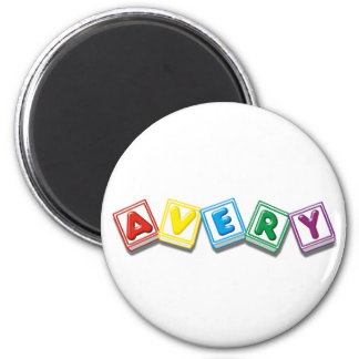 Avery 6 Cm Round Magnet