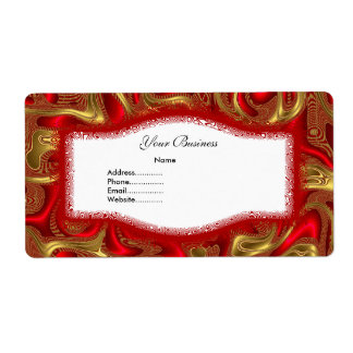Avery Address Label Abstract Red Gold