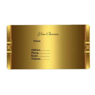 Avery Address Label Gold On Gold
