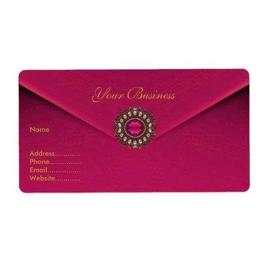 Avery Address Label Pink Velvet Jewel