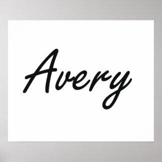 Avery artistic Name Design Poster