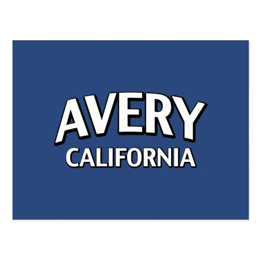 Avery California Post Card
