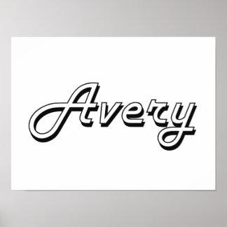 Avery Classic Retro Name Design Poster