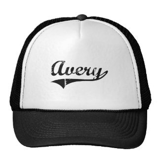 Avery Classic Style Name Hat