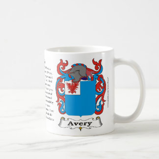 Avery Family Coat of Arms Mug