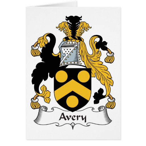 Avery Family Crest Greeting Card