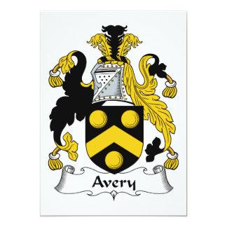 Avery Family Crest Custom Invitations