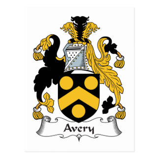 Avery Family Crest Postcard