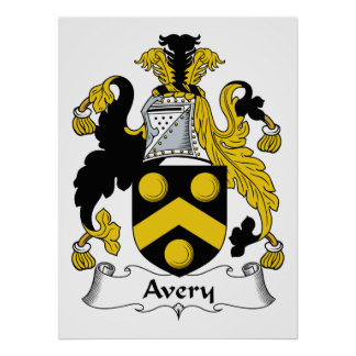 Avery Family Crest Poster