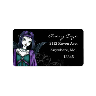 """""""Avery"""" Gothic Angel Labels"""