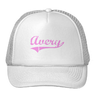 Avery Last Name Classic Style Mesh Hats